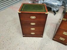 STUNNINGLY RESTORED MAHOGANY ANTIQUE STYLE MILITARY CAMPAIGN CHEST OF DRAWERS