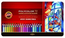 Coloured pencils POLYCOLOR KOH-I-NOOR 72 colours 3827 IN METAL BOX