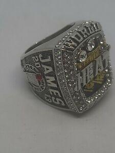 2013 Miami Heat 2X Championship Replica LeBron James Ring Size 10