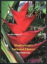 MONTSERRAT 2017 NATIONAL FLOWER RED HELICONIA SOUVENIR  SHEET  MINT NH