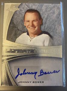 Johnny Bower Leaf 2015 Signed 27/45 Ultimate Signatures #US-JB2