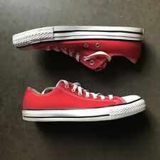 Men's Converse Chuck Taylor All Star Low Top Sneakers Red White Black Sz 10 EUC