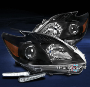 FOR 2010-2011 TOYOTA PRIUS REPLACEMENT BLACK PROJECTOR HEADLIGHT +LED DRL SIGNAL