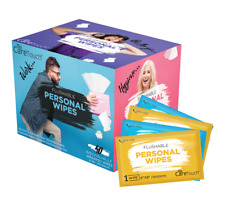 Personal Flushable Wet Wipes - 40 Individually Wrapped Wipes, Alcohol Free