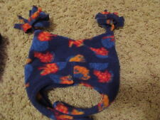 L.L. BEAN ~FLEECE FROG ~ BLUE Winter HAT Chin Strap 6-12 Mo.