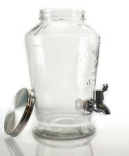 Getränkespender mit Zapfhahn 6 Liter Spender Dispenser Vintage Kilner Glas     3