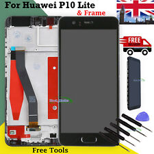 For Huawei P10 LCD Touch Screen Digitizer Display + Frame Full Replacement Black