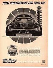 1972 VW / VOLKSWAGEN BEETLE ~ ORIGINAL MALLORY IGNITION AD
