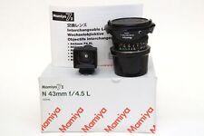 Mamiya N 43mm F4,5 L Scatolato con Mirino e Paraluce per Mamiya 7 e 7 II