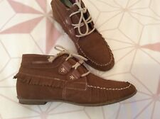 Ladies. Tan swede. Indian. Moccasins boots. 38 (5)