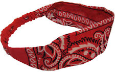 Bandana Headwrap Red 100% Cotton Great for Yoga and Exercise