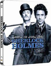 SHERLOCK HOLMES (Robert Downey Jr., Jude Law) Blu-ray Disc, Steelbook U.K. NEU