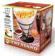 The French Fry Stand With Condiment Stand