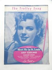 1944 The Trolley Song Meet Me in St. Louis Judy Garland O'Brien Sheet Music