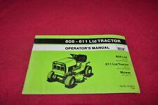Deutz Allis Chalmers 608 611 Lawn Tractor Operator's Manual YABE16