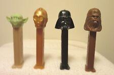 star wars pez dispensers...darth vader,yoda, chewbacca, c3-po
