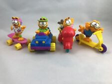 McDonalds Happy Meal Toys, Garfield 1988, Complete Set Lot of 4 with Odie