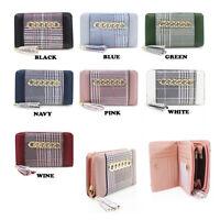 LeahWard Women's Bifold Medium Coin Purse Quality Designer Wallet Card Holder