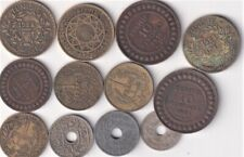 14 TUNISIA & MOROCCO COINS 1908-1945, FRENCH COLONIAL AFRICA  F27