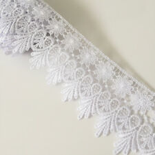 """56mm Venise V Drop Lace Trim x 1 yard in Ivory or White 2.1//8/"""""""