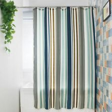 Striped Shower Curtain Polyester Mildew Resistant Bath Curtain Waterproof Fresh