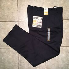 HAGGAR * Mens Navy Casual Pants * Size 36 x 34 * NEW WITH TAGS