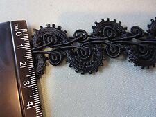 Vintage Black gimp rayon braid trim Victorian 6 yd unit Civil War Re Enactment
