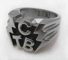 "Elvis Presley TCB ""Lightning Bolts"" men's Ring any size"