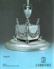 CATALOGO CASA D'ASTE CHRISTIE'S ASTA VENDITA ARGENTI - ROMA 1991