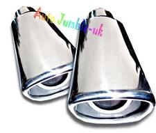 car DELUX Exhaust pipe tip trim chrome tail piece square bore tailpipe cover X2