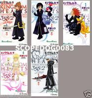 KINGDOM HEARTS 358/2 DAYS SHIRO AMANO JAPANESE ANIME MANGA BOOK SET VOL.1-5 F/S