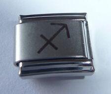 SAGITTARIUS Italian Charm - Zodiac Symbol Horoscope fits 9mm Starter Bracelets