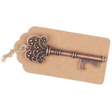 50 Vintage Key Bottle Openers w/ Tags & Twine, Keys Wedding Favors Copper