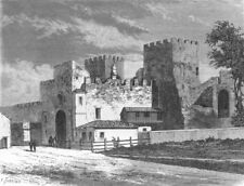 ROME. Gate of St Paul, or Ostiensis 1872 old antique vintage print picture