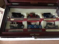 MATCHBOX YESTERDAY YY60 CONNOISSEURS COLLECTION of SIX MODELS in BEECHWOOD CASE