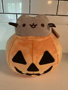 "NWT Pusheen Pumpkin Jack O'Lantern Halloween 9"" Plush"