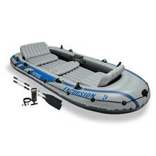 Intex Excursion 5 Inflatable Rafting/Fishing Dinghy Boat Set w/ 2 Oars(Open Box)