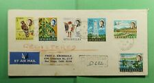 DR WHO 1967 SEYCHELLES VICTORIA REGISTERED AIRMAIL TO USA  f52923
