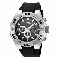 Invicta Men's Specialty Black Silicone Band Steel Case Quartz Watch 21563