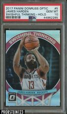 2017-18 Donruss Optic Holo Swishful Thinking James Harden Rockets PSA 10
