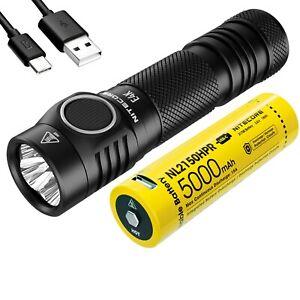 NITECORE E4K 4400 Lumen EDC Flashlight with Battery