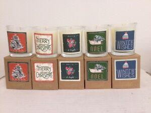 Illume boxed votive Holiday candles set of 5 - 2.3 oz each