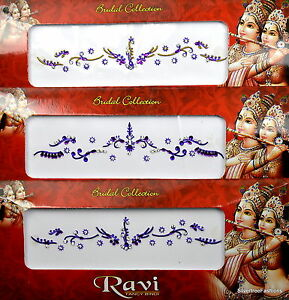 1 PACK of BRIDAL Purple **CHOOSE YOUR STYLE** Indian  Gem TIKKA Festival BINDI
