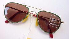 Children Brands Sunglasses Pilot Teardrop Green Gold Eschenbach Size K