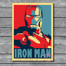 Ironman Retro  A4 Poster Glossy Print