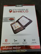 Nintendo 3DS XL Zagg Invisible shield Smudge Proof Screen Protector New