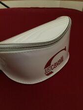 JUST CAVALLI SUNGLASSES CASE Pouch Cover Travel Eye Glasses White Zipper Bag