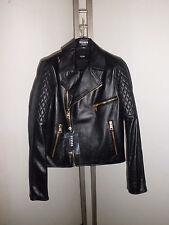 Versus Versace Jacket Giubbino Chiodo Pelle Jeans Size 44 € 785 00