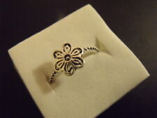 BAGUE Fleur Flower RING ANELLO ARGENT 925 SILVER Ring S.54 / New