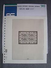 Lindner T-falzlos álbum-suplementario Nº 121/k DDR Klein arco 1990 (vordruckblatt 14)